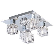 Cool Ice 5 Light Semi Flush Mount