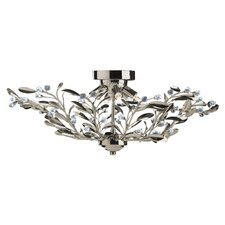 Lima Floral 6 Light Semi Flush Mount