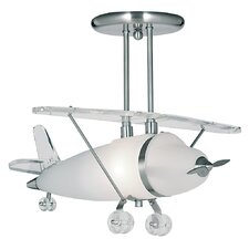 Novelty 1 Light Semi Flush Mount