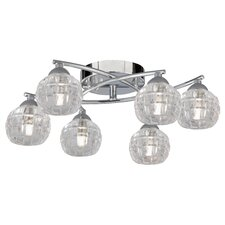 Rialto 6 Light Semi Flush Mount