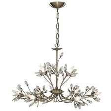 Hibiscus 9 Light Crystal Chandelier