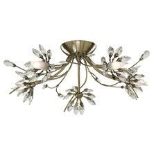 <strong>Home Essence</strong> Hibiscus 5 Light Semi Flush Mount