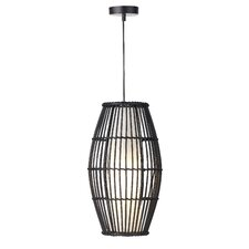 Bamboo 1 Light Mini Pendant
