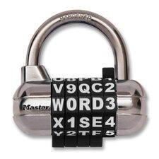 "Alpha Dial Lock/Combination, 2-1/2"", Chrome/Black Color Dial"