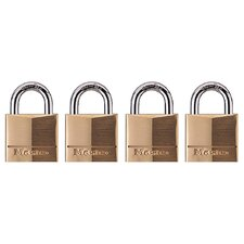 <strong>Master Lock Company</strong> Padlock in Brass (Set of 4)