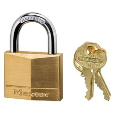 Master Lock Solid Brass Padlock, Brass