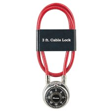 <strong>Master Lock Company</strong> Combination Padlock and Cable