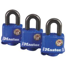 Weatherproof Padlock (Set of 3)
