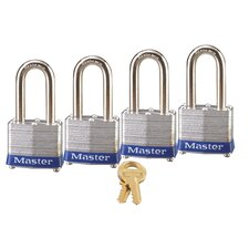 <strong>Master Lock Company</strong> Laminated Steel Extra Long Shackle Padlock (Set of 4)