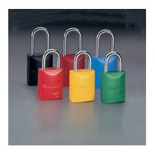 "1 31/32"" High Body High-Visibility Aluminum Padlock - Keyed Differently With 1 1/16"" Shackle"