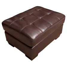 Livingston Leather Standard Ottoman
