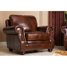 <strong>Abbyson Living</strong> Karington Hand Rubbed Leather Armchair