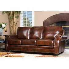 Karington Hand Rubbed Leather Sofa
