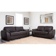 <strong>Abbyson Living</strong> Ashton Leather Sofa and Loveseat