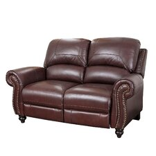 <strong>Abbyson Living</strong> Charlotte Leather Reclining Loveseat