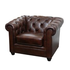 Arcadian Premium Italian Leather Arm Chair