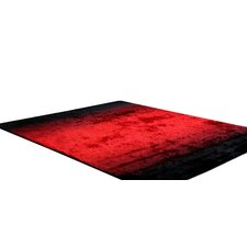 Bliss Black / Red Shag Indoor/Outdoor Rug