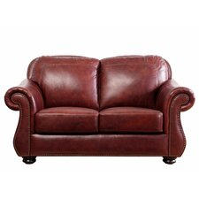 <strong>Abbyson Living</strong> Harbor Premium Semi-Aniline Leather Loveseat