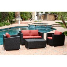 Hampton Outdoor 4 Piece Deep Seating Group