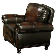 Barclay Hand Rubbed Leather Armchair