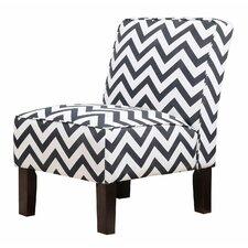 Natalia Chevron Slipper Chair
