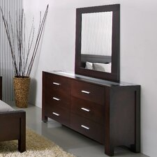 Azara 6 Drawer Dresser and Mirror Set