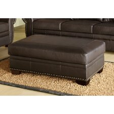 Monroe Italian Leather Cocktail Ottoman