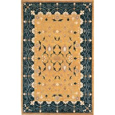 Harvest Moon Himalayan Sheep Floral Rug