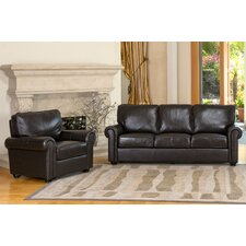 <strong>Abbyson Living</strong> Bliss Leather Sofa and Chair Set