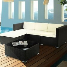 Ato Patio 5 Piece Deep Seating Group with Cushion