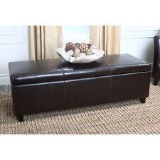 Frankfurt Leather Storage Ottoman in Dark Brown