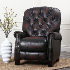 Camden Hand Rubbed Top Grain Leather Pushback Recliner