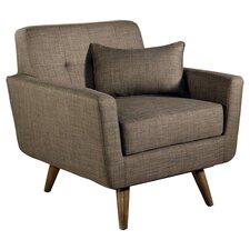 Paisley Tufted Farbic Armchair