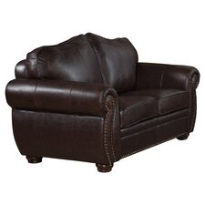 <strong>Abbyson Living</strong> Palazzo Leather Loveseat