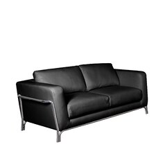 Perch Leather Loveseat (Set of 2)