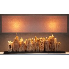 """Wooden 26"""" H Table Lamp with Rectangular Shade"""