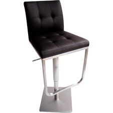 Ferrera Adjustable Height Swivel Bar Stool with Cushion