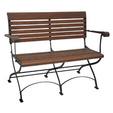 Toscana Iron and Teak Garden Bench