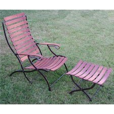 Toscana Folding Lounge Chair and Ottoman