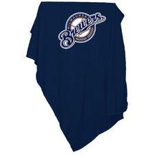 MLB Milwaukee Brewers Sweatshirt Polyester Blanket