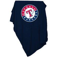 MLB Texas Rangers Sweatshirt Polyester Blanket