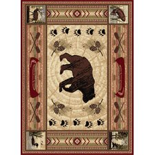 Nature Bear Motif Novelty Rug