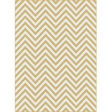 Metro Yellow Chevron Area Rug