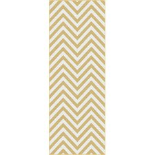 Metro Yellow Chevron Rug
