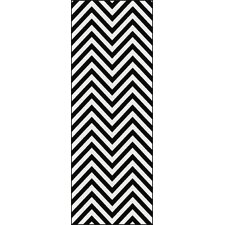 Metro Black Chevron Rug