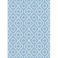 Metro Blue Moroccan Tile Area Rug