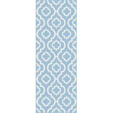 Metro Blue Moroccan Tile Rug