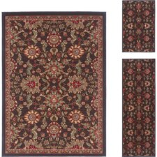 Laguna Charcoal Oriental Rug 3 Piece Set
