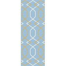 Metro Blue Geometric Rug