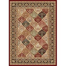Sensation Red Checked Rug